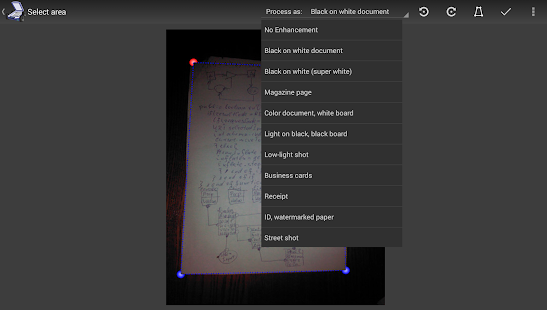 Mobile Doc Scanner 3 + OCR Screenshot