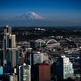Seattle  by Blanca Braun - City,  Street & Park  Skylines