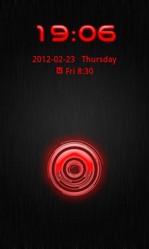 Go Locker Theme Red Tech - screenshot
