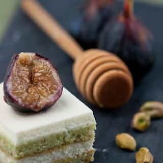 Pistachio Mascarpone Cake with Roasted Figs