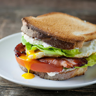Bacon, Lettuce, Tomato and Fried Egg Sandwiches!.
