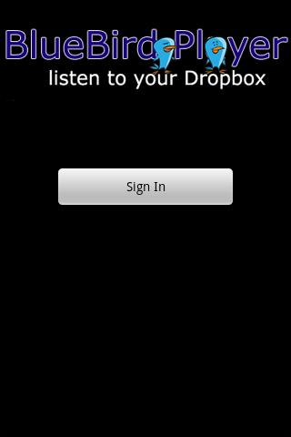 BlueBird Player for Dropbox - screenshot