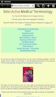 Screenshot of Learn Medical Terminology