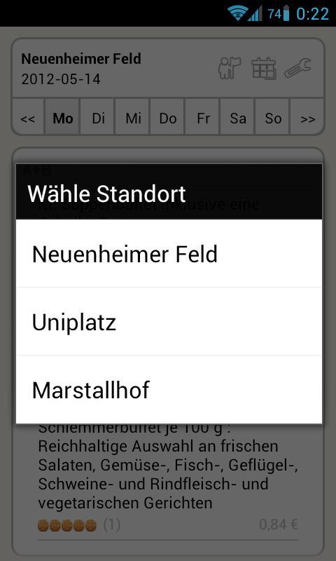 Mensa Heidelberg- screenshot
