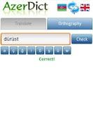Screenshot of AzerDict