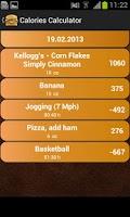 Screenshot of Calory Calculator free