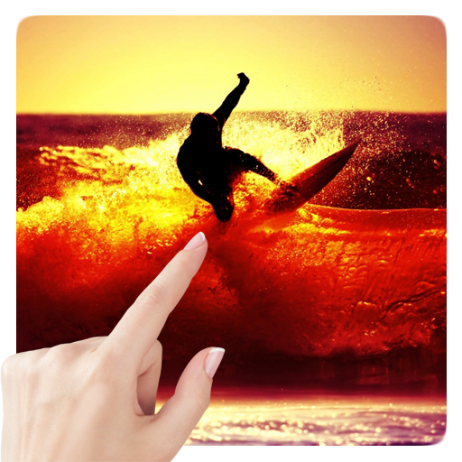 Sunset Surfing. Live Wallpaper LOGO-APP點子