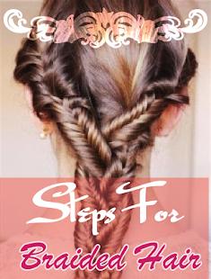 用于编织头发的步骤