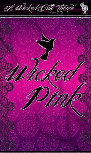 Wicked Pink Damask Theme SMS