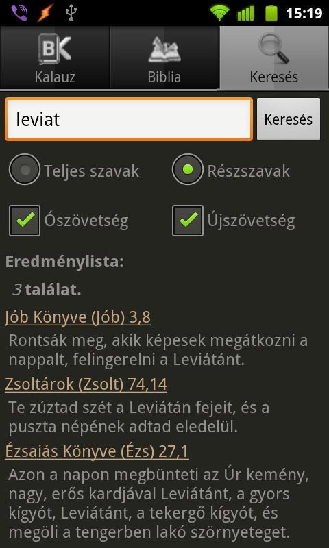 BibOlKa - Új fordítású Biblia - screenshot
