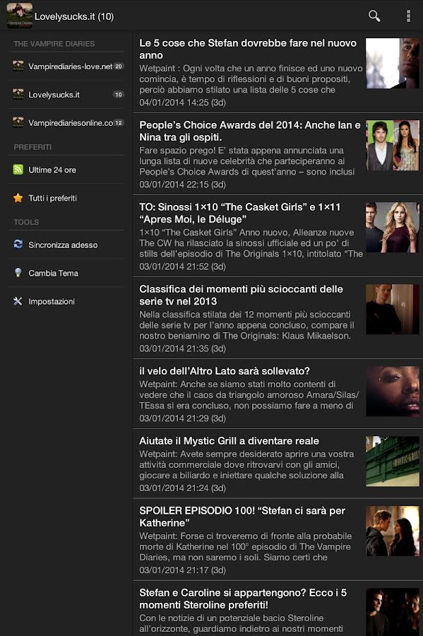 Vampire Diaries News Italia - screenshot