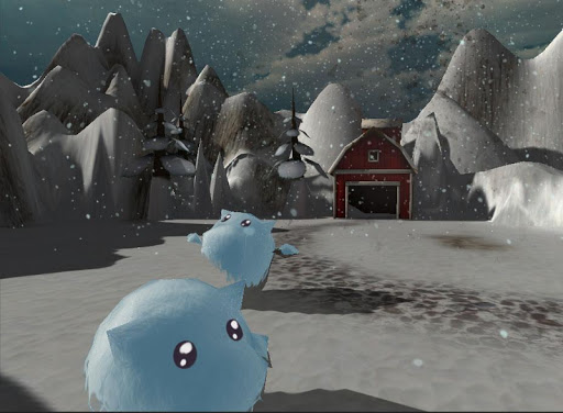 Christmas Winter Farm:Cow Milk
