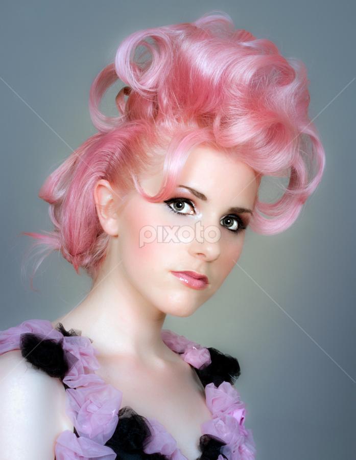 Pink Hair by Vibeke Friis - People Fashion ( pink hair, woman,  )