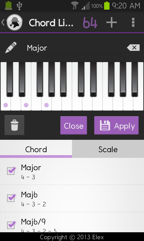Colorful Piano Reverse Chord Finder Model Beginner Guitar Piano