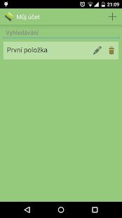 Můj účet - náhled