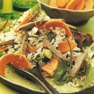 Tropical Beef and Rice Salad Recipe