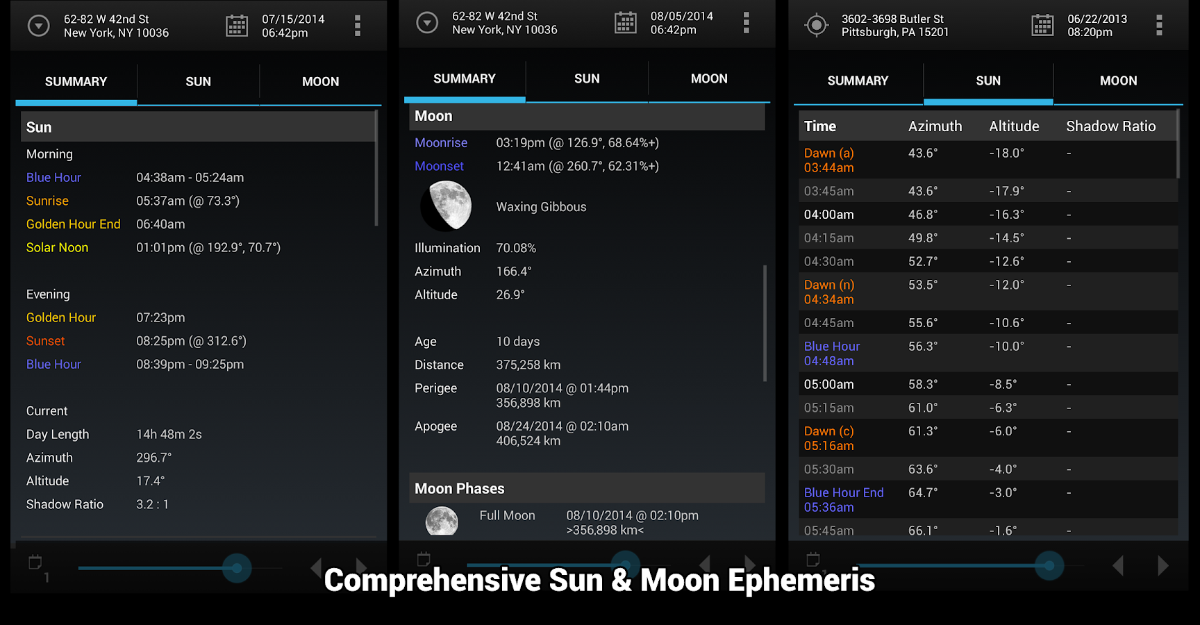 Sun Surveyor (Sun & Moon) - screenshot
