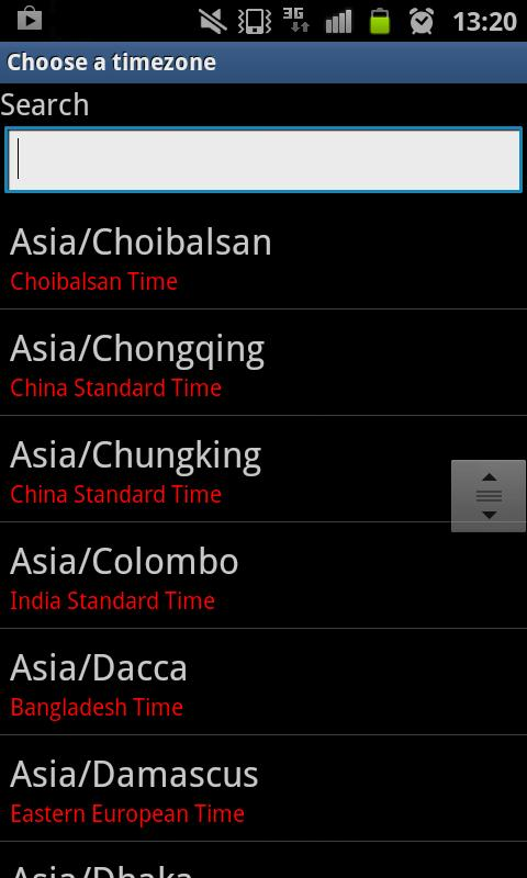 ChronoZone Time Zone Reckoner- screenshot