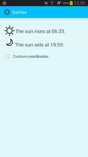 Sonnen- auf und untergang