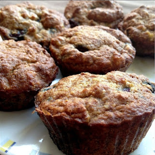 Paleo Banana Blueberry Muffins.