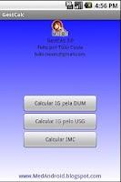 Screenshot of GestCalc - Idade Gestacional