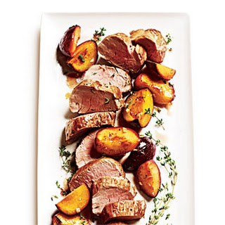 Roast Pork Tenderloin with Thyme-Scented Plums.