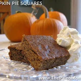 Pumpkin Pie Squares.