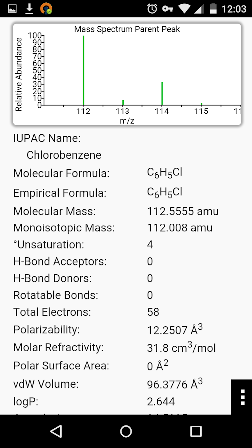 ChemDoodle Mobile- screenshot