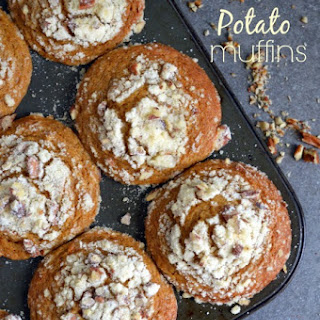 Sweet Potato Muffins with Pecan Streusel.