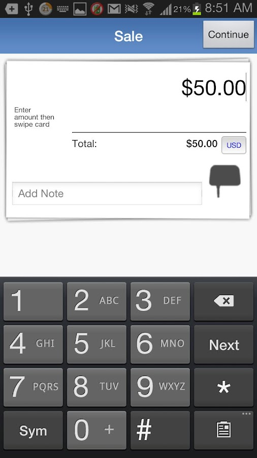 Beanstream Mobile Payments- screenshot