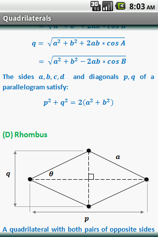 Geometry Formulas (Free) - screenshot