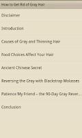 Screenshot of How to Get Rid of Grey Hair