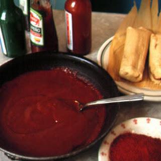 Mrs. Sanchez's Red Chile Sauce.