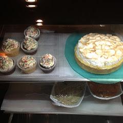 Gf bakery case (yes that's lemon merengue pie!)