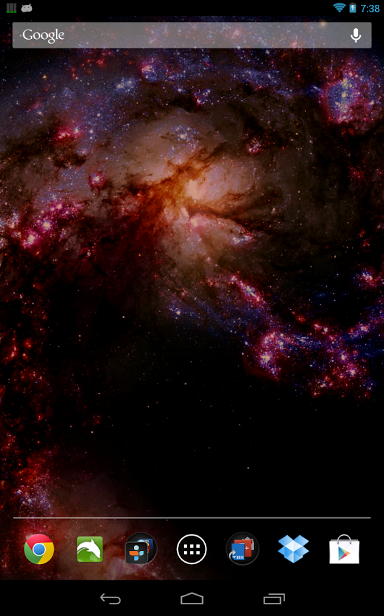 Space Galaxy Live Wallpaper- screenshot