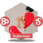 Broken heart GO Launcher