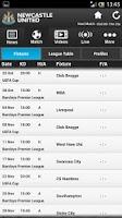 Screenshot of Official Newcastle