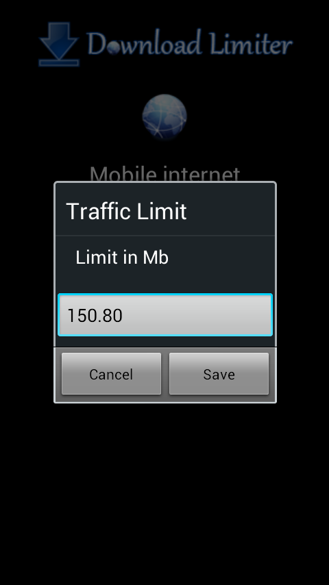 3G Download Limiter- screenshot