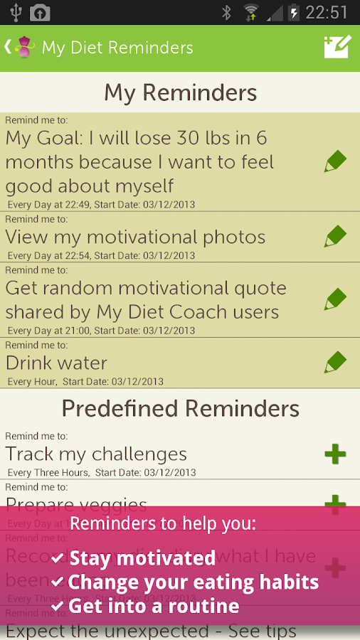My Diet Coach - Pro - screenshot