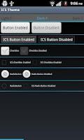 Screenshot of ICS Themed App