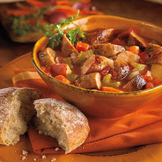 Bratwurst and Winter Vegetable Stew.