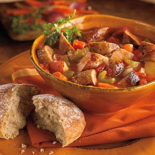 Bratwurst and Winter Vegetable Stew.