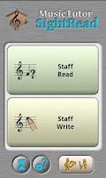 Screenshot of Music Tutor Sight Read Lite