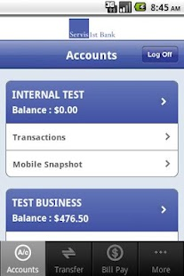 ServisFirst Bank Mobile - screenshot thumbnail