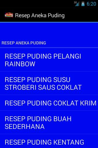 Resep Aneka Puding