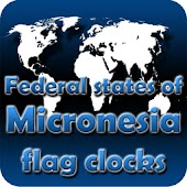 Micronesia flag clocks