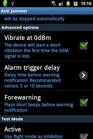 Anti Jammer FREE (GSM SIGNAL)- screenshot