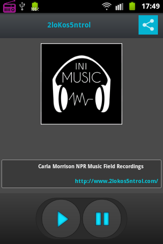 Radio Internet iniMusic- screenshot