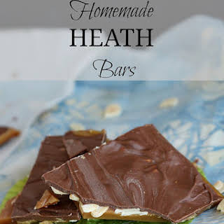 Homemade Heath Bars.
