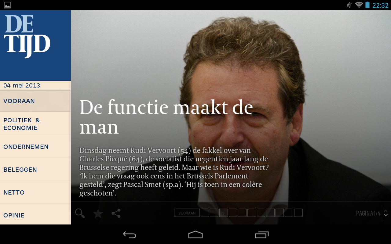 De Tijd - screenshot